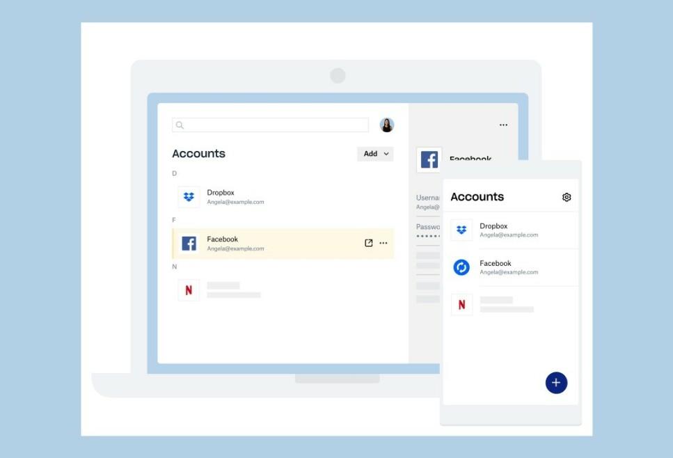 HOLD ORDEN PÅ PASSORD: Med en passordtjeneste som denne nye fra Dropbox blir det enklere å ha sikre og unike passord for alle de ulike nettjenestene du bruker. Foto: Dropbox