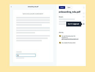 E-SIGNATUR: Snart vil det være mulig å sende, motta og skrive under på dokumenter rett i Dropbox. Foto: Dropbox
