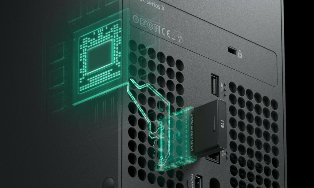 Xbox Series X har støtte for lagringskort. Foto: Microsoft