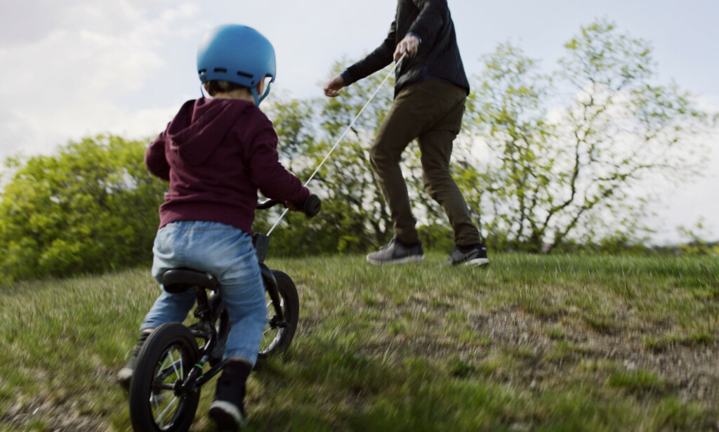 KIDREEL: De norske gründerne tror at Kidreel vil gi foreldre bedre kontroll over barna når de er ute og sykler. Foto: Kidreel