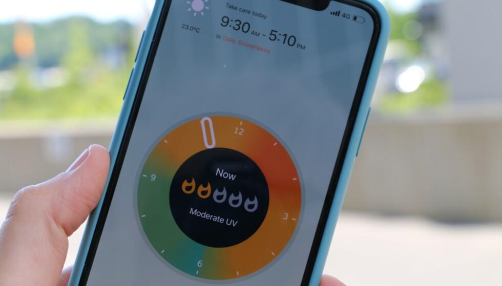 SJEKK UV-NIVÅET: Denne appen kan være lur å bruke i sommer. Foto: Kirsti Østvang