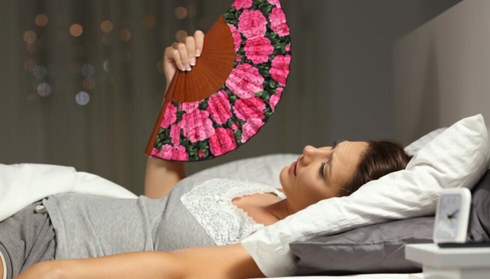 VARMT: Når temperaturen på soverommet blir høy, kan det bli vanskelig å sove. Men det fins råd. Foto: NTB Scanpix/Shutterstock