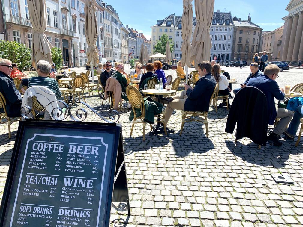 DYRT I DANMARK: Danmark er dyrest av alle EU-landene, også på mat og drikke. Og med høy valutakurs blir det enda dyrere for nordmenn på tur. Foto: Kristin Sørdal