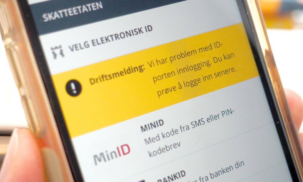 SKATTEOPPGJØRET: Innloggingen til skatteoppgjøret er for tiden ustabilt. Foto: Kristin Sørdal