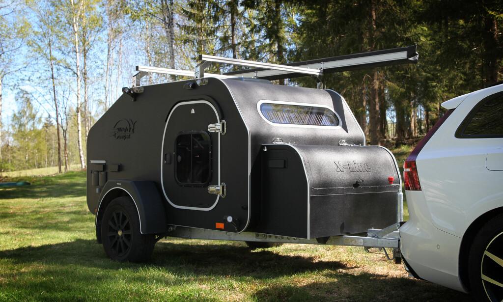 KOSTBAR: Mini-campingvogna er både dyrest og mest luksuriøs i testen. Foto: NAF