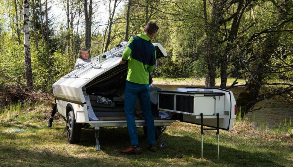 RASKT: Med erfaring og to personer bør oppsettet av Isabella Camp-let gå på 10-15 minutter. Foto: NAF