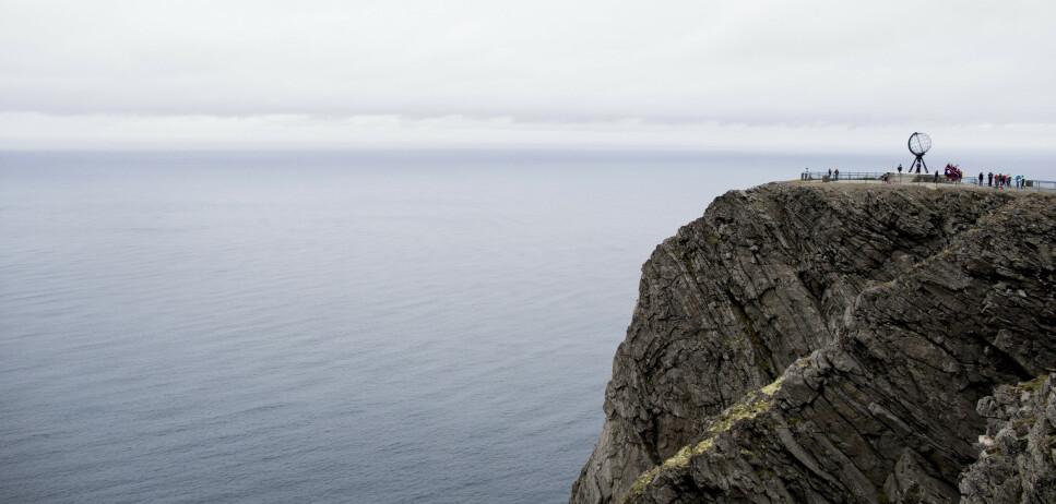 NORDKAPP: Illustrasjonsbilde fra Nordkapplatået på Magerøya i Finnmark, i forbindelse med sykkelrittet Arctic Race of Norway. Nordkappklippen. Foto: Vegard Wivestad Grøtt / NTB scanpix