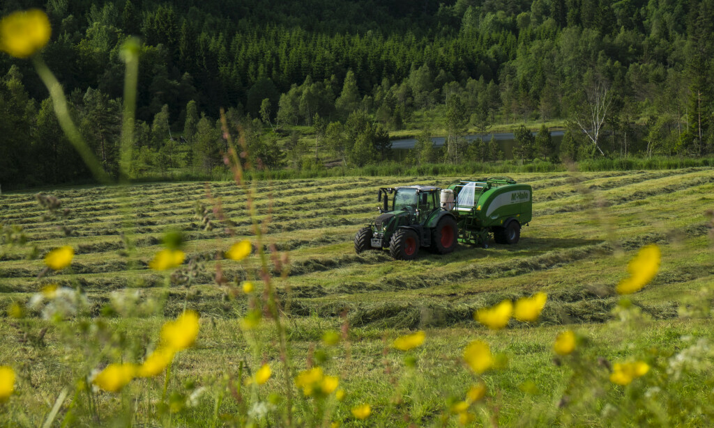 TRAKTOR: Fra 1. juli blir det påbudt med setebelte i traktor, og Arbeidstilsynet varsler kontroller.  Foto: Vidar Ruud / NTB scanpix
