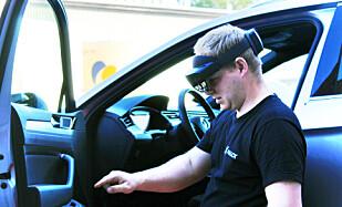 POSITIV: Bilberger og bilansvarlig hos Falck i Oslo, Torger Fuglerudsveen, fikk i forprosjektet prøve Hololens 2-brillene. Foto: Falck