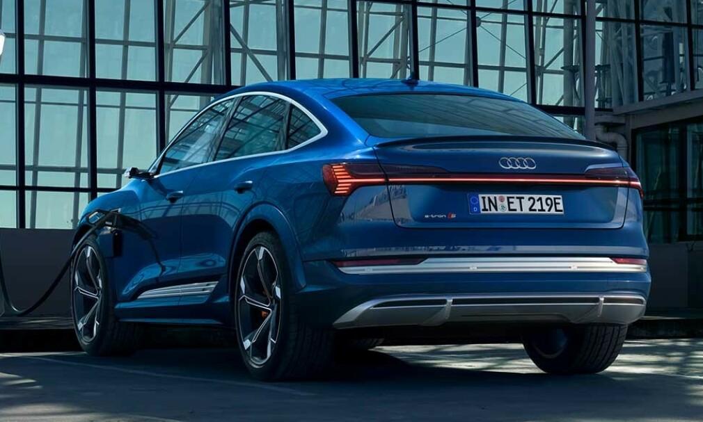 NY MODELL: Audi e-tron utvider fra fire til seks versjoner, nå som 60 S og 60 S Sportback (bildet) blir tilgjengelig for å bestilles fra sensommeren. Foto: Audi