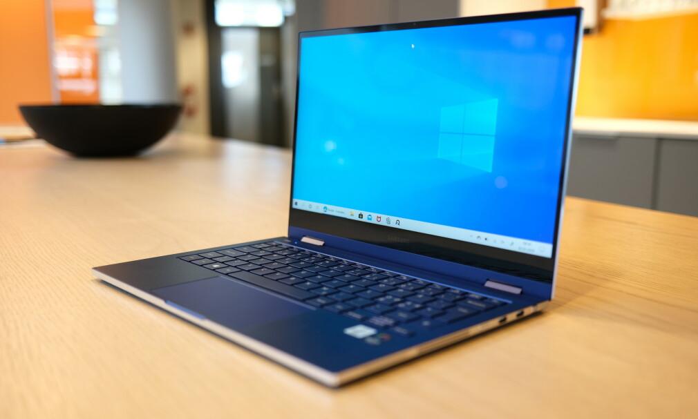 GALAXY BOOK FLEX: Vi er spesielt imponert over batteritiden til Samsungs nye PC. Foto: Martin Kynningsrud Størbu