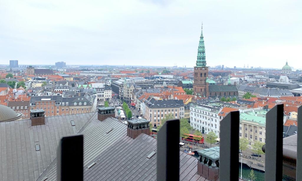 UTSIKTEN: Du kan skue ut over København fra 44 meters høyde. Foto: Kristin Sørdal