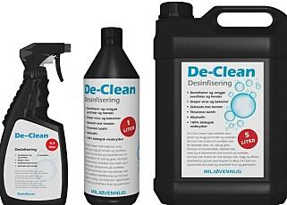 IKKE GODKJENT: Den norske importøren av De Clean er har stanset salg og markedsføring av produktet, etter at Miljødirektoratet ba om det. Foto: Produsenten