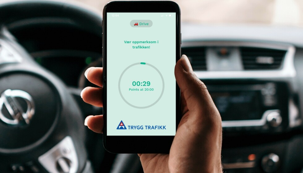 GULROT: Ved bruk av en mobilapp skal man få premier for ikke å bruke mobiltelefonen mens man kjører. Foto: Hold
