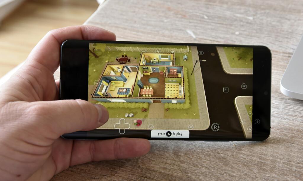 PÅ MOBILEN: Nå kan du strømme Stadia-spill på nært sagt alle Android-telefoner. Foto: Pål Joakim Pollen