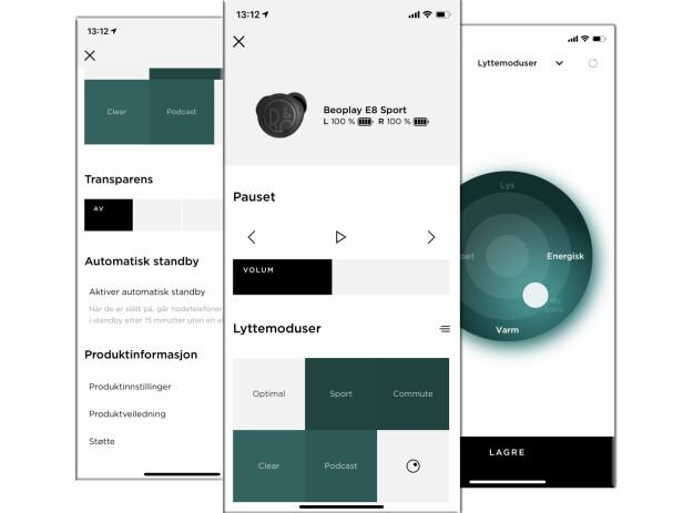 Bang & Olufsen-appen er ganske enkel.
