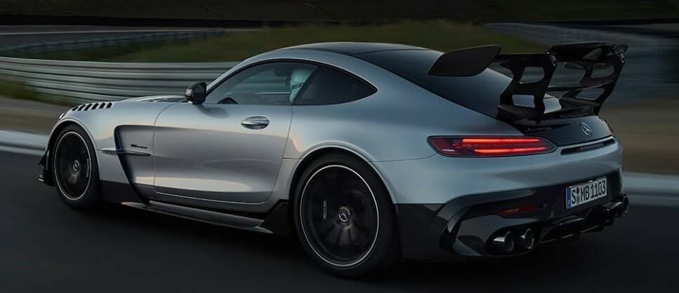 HER ER DEN: Mercedes AMG GT Black Series. Foto: AMG