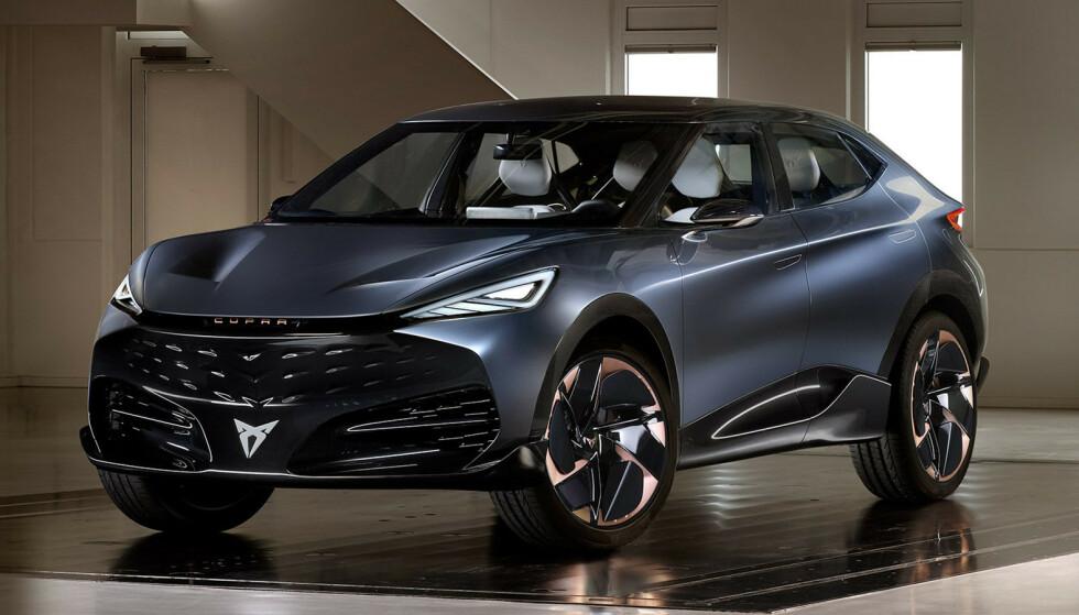 FREMTIDEN: SUV- er fremtiden og slik ser Cupra for seg sin konkurrent til VW ID.4 og Skoda Enyaq. Foto: Cupra