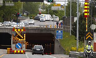 HIT: Bruk alle kjørefeltene helt til det ikke er mulig lenger. Foto: NTB Scanpix