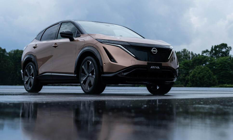 NISSAN ARIYA: Dette er bilen som skal etterfølge Norges mest solgte elbil. Foto: Nissan
