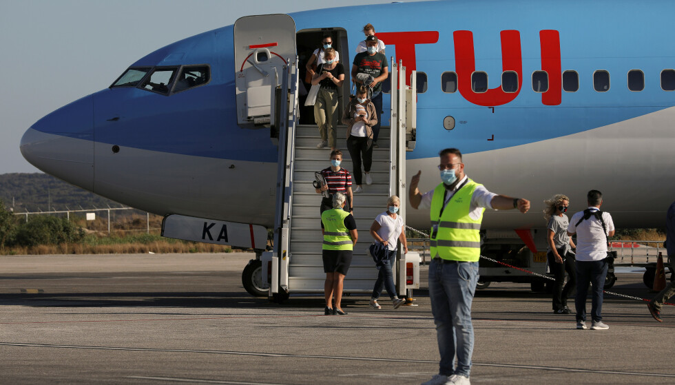 <strong>CHARTER-COMEBACK:</strong> Nå som Syden åpnes for turisme igjen, er det flere som våger seg utenfor landegrensene. TUI har kommet med en tilleggsdekning til alle reisende hvis de trenger corona-relatert hjelp. Les hva Forbrukerrådet og forsikringsselskapene mener i saken under. Foto: Reuters/NTB Scanpix.