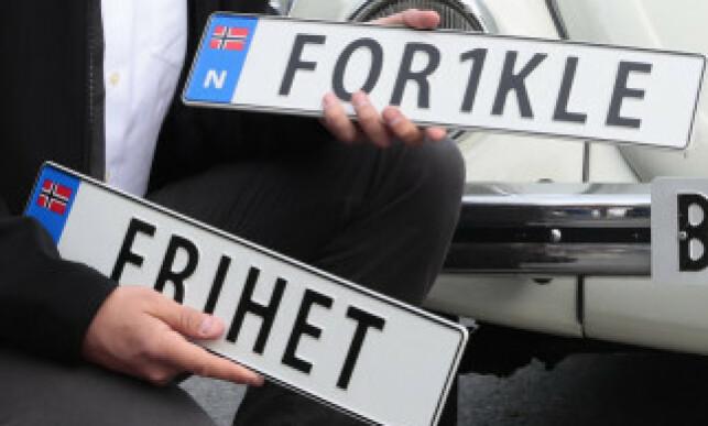 PERSONLIG: De siste årene har man kunne ha sine helt egne, personlige skilt på norske kjøretøy. Foto: Håkon Mosvold Larsen / NTB scanpix