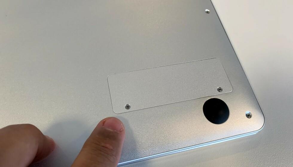 SSD-LUKE: Her kan du montere en ekstra SSD og dermed få mer og hurtigere lagring. Foto: Bjørn Eirik Loftås