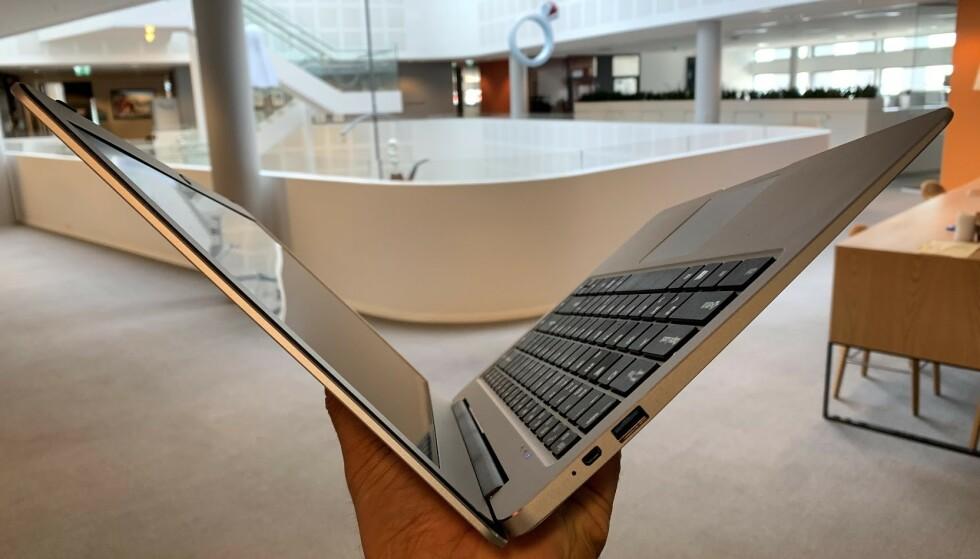 LETT: 1,3 kg er så lett at det frister å ta med PC-en på tur. Foto: Bjørn Eirik Loftås