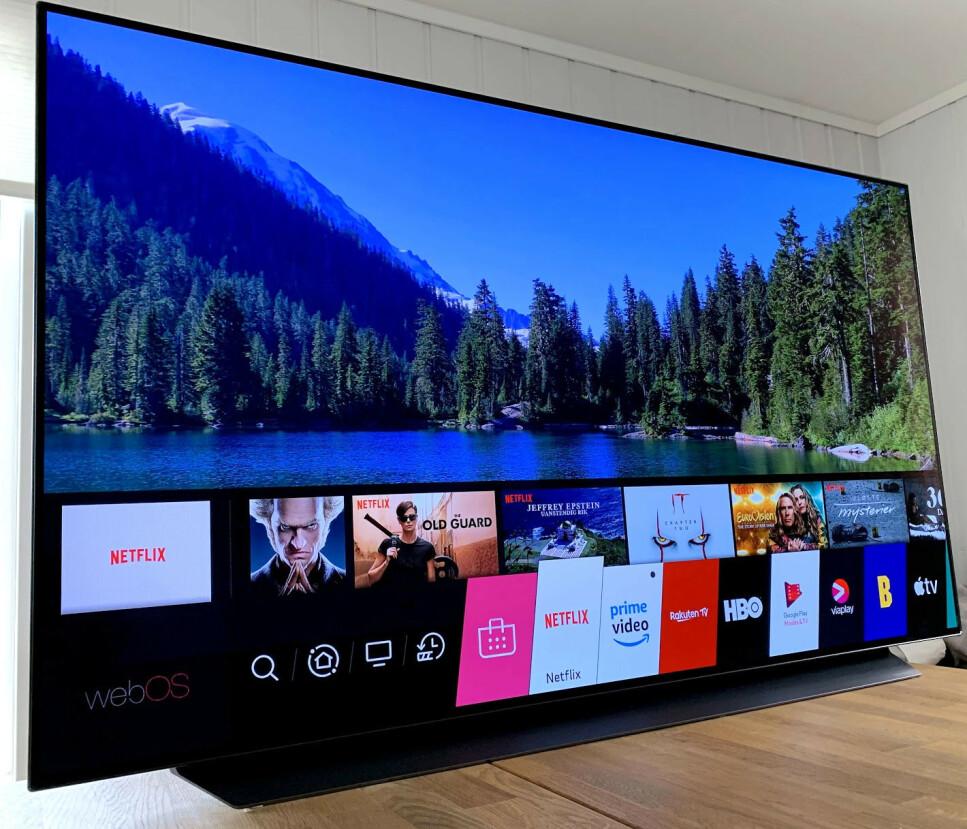 ELLEVILL BILDEKVALITET: Det er ikke mye å trekke på bildekvaliteten på LGs nye OLED-TV. Foto: Bjørn Eirik Loftås