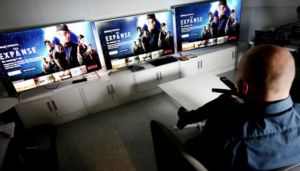 LCD: Dinside tester jevnlig TV-er. Her fra en tidligere samletest av LCD-TV-er. Foto: Ole Petter Baugerød Stokke