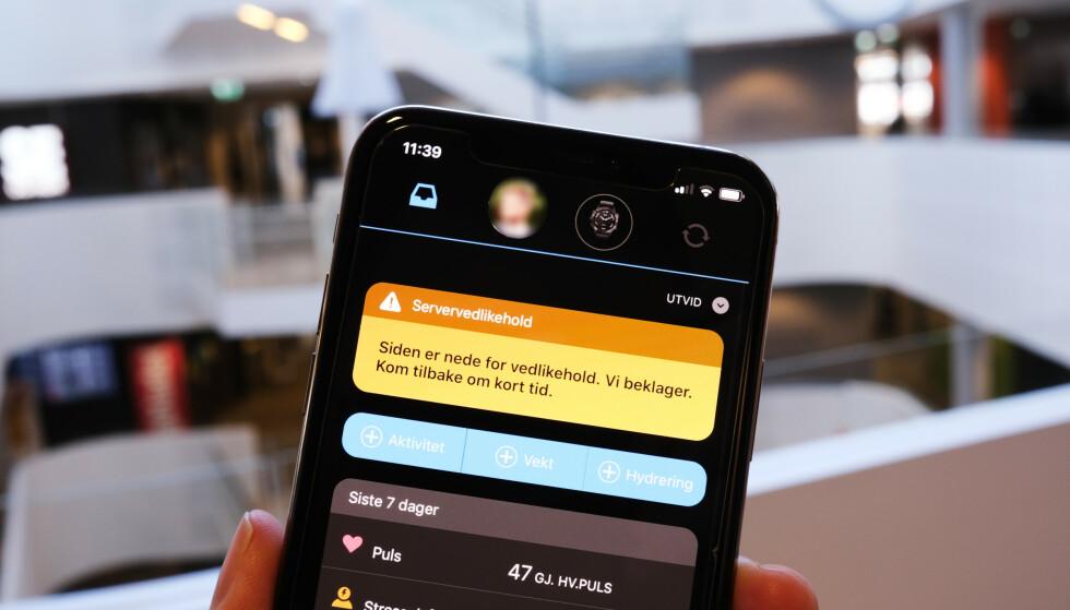 CONNECT: Garmin-brukerne har opplevd synkroniseringsproblemer den seneste tiden. Ifølge rapportene dreier det seg om et løsepengevirus, men det er ikke bekreftet fra offisielt hold. Foto: Martin Kynningsrud Størbu