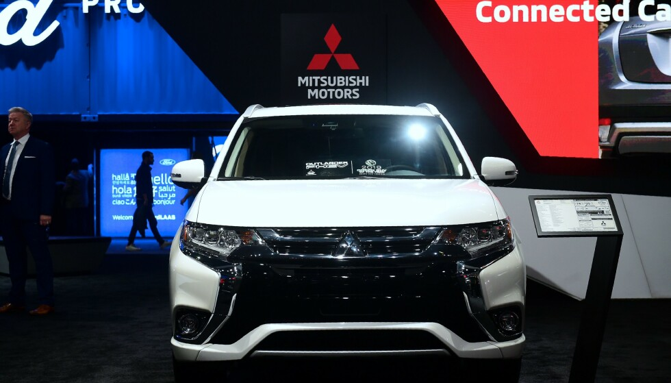 MITSUBISHI: Det japanske bilmerket introduserer en ny forretningsplan som innebærer at nylanseringer fryses i Europa de neste tre årene. Foto: AFP/Frederic J. Brown/NTB Scanpix