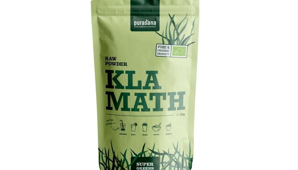 KAST DEN: Raw Powder Klamath Purasana Supergreens bør ikke spises. Kast og få pengene tilbake, sier importøren. Foto: Vitalkost