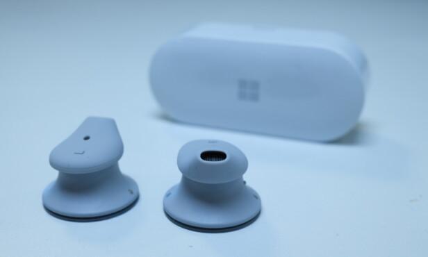 MYKE: Det medfølger tre par silikonpropper. Foto: Martin Kynningsrud Størbu