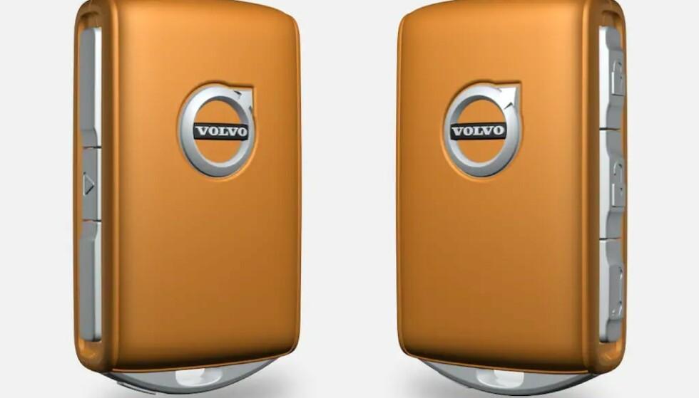 <strong>SPESIALNØKKEL:</strong> Låser du opp bilen med denne nøkkelen, kan det hende du kun får kjøre i 50 kilometer i timen. Foto: Volvo Cars
