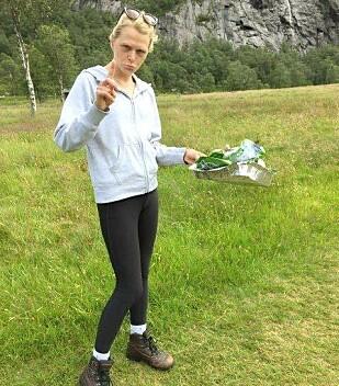 RUSKENAKSJON I ROGALAND: Dinsides journalist fant mye søppel på tur til Månafossen i Rogaland. Foto: Wilja Eriksen.