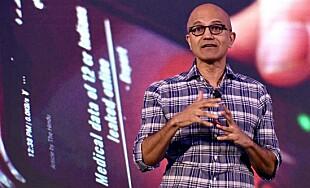 Microsofts toppsjef Satya Nadella har vist interesse for å kjøpe opp TikToks amerikanske virksomhet. Foto: Manjunath Kiran / AFP / NTB Scanpix