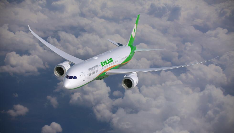 ANERKJENT: EVA Air er et anerkjent flyselskap og har seinest i år kommet inn på topp 10 av beste internasjonale flyselskap i en kåring hos TripAdvisor samt i reisemagasinet Travel + Leisure. Foto: EVA Air