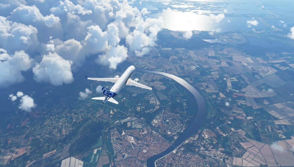 EKSTREM GRAFIKK: Har du kraftig nok maskinvare og nettlinje er det ikke veldig mye som skiller Flight Simulator 2020 fra virkeligheten, i hvert fall ikke på det Microsoft har vist frem til nå. Foto: Microsoft