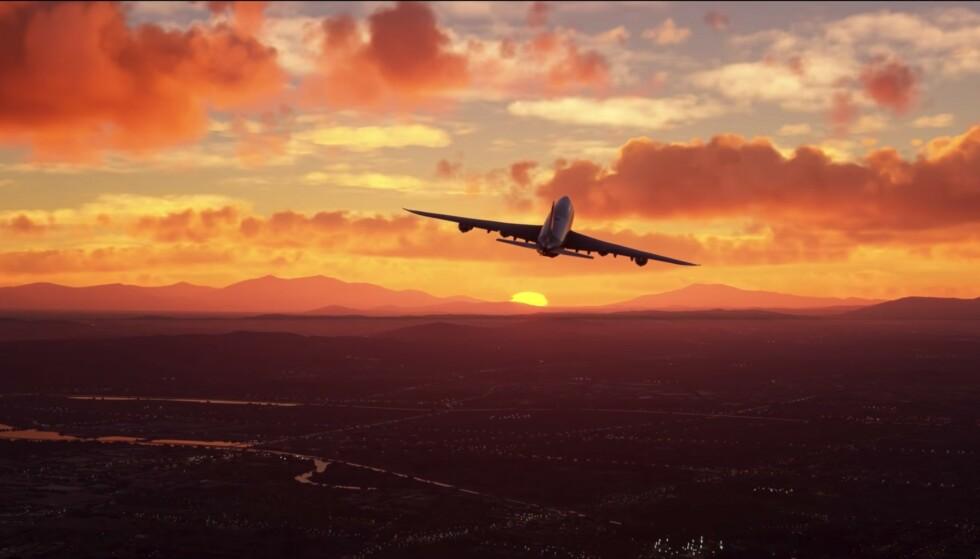 KOMMER 18. AUGUST: Microsoft Flight simulator 2020 ser ut til å ha helt vanvittig grafikk. Foto: Microsoft/YouTube