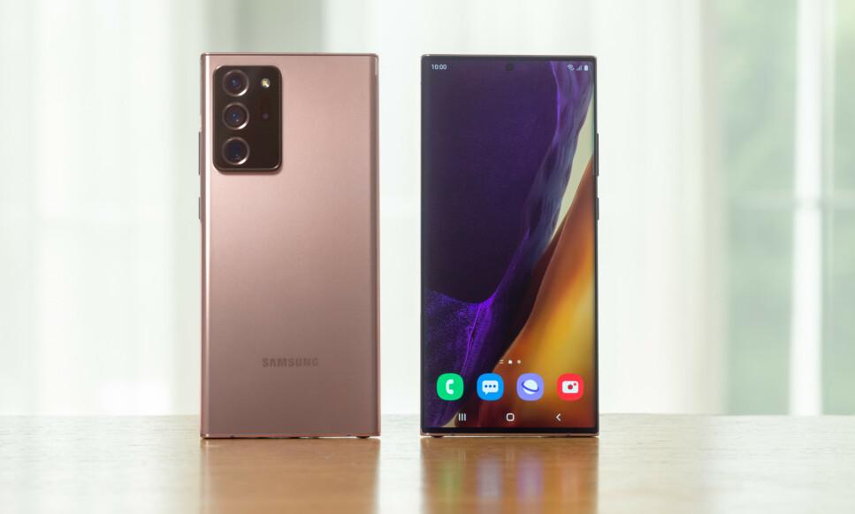 NY TOPPMODELL: Note 20 Ultra er Samsungs nye toppmodell. Foto: Samsung