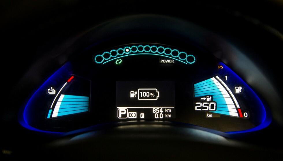 LIKE LENGE SOM BILEN: Det er forskjell på ikke bare bilmodellene, men også de forskjellige årgangene av hver modell, når det gjelder hvor godt batteriet holder. Likevel ser det ut til at batteriet lever like lenge som bilen. Foto: Rune Korsvoll.