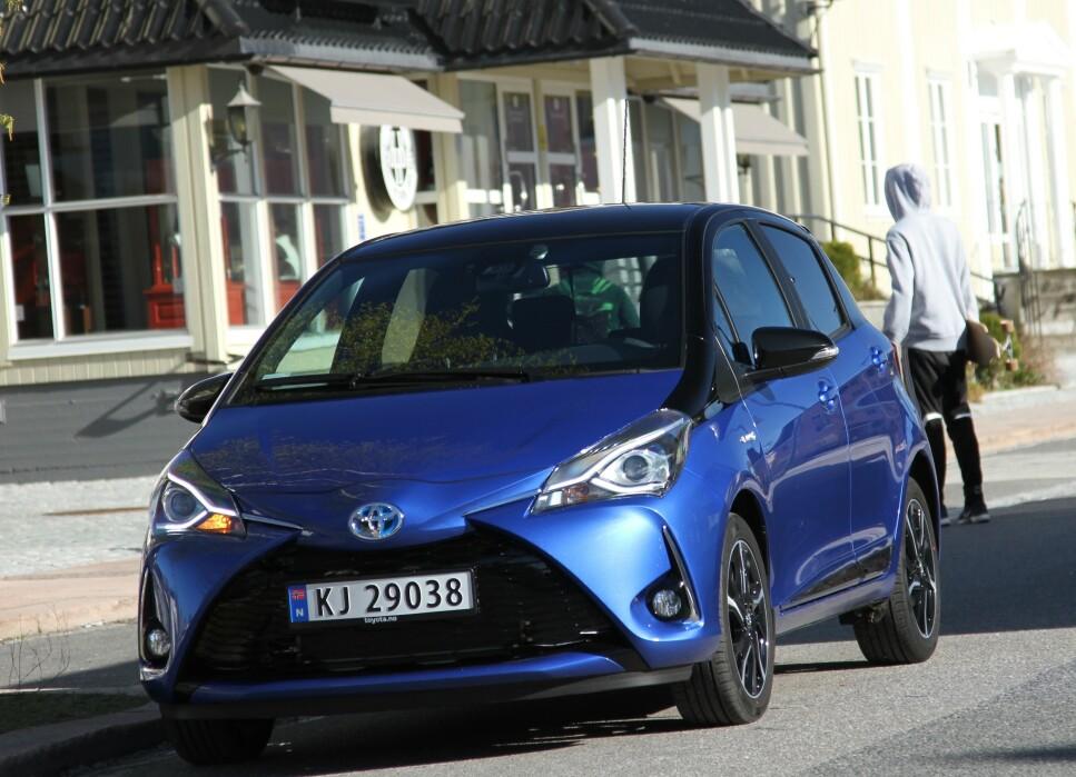 STOPPER MINST: «Absolutt på topp er Toyota Yaris, som uten unntak får karakteren svært god eller god driftssikkerhet i alle årganger», sier ADAC om Toyota Yaris. Foto: Rune Korsvoll