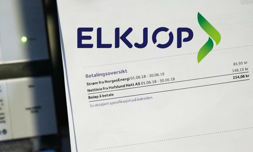 ELKJØP + NORGESENERGI = DYRT: Du kan få rabatt på varene dine hos Elkjøp hvis du tegner strømavtale med Norgesenergi på stedet. Det kan koste betydelig mer enn det smaker, og Forbrukerrådet fraråder «rabatt-avtalen» på det sterkeste. Les hvorfor i saken under. Foto: NTB Scanpix / Elkjøp