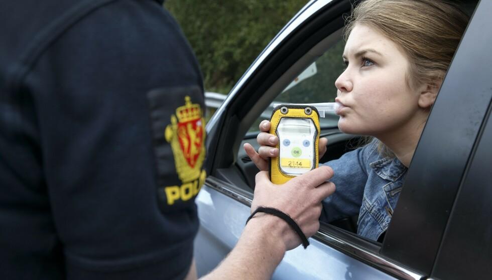 LANGT FÆRRE I PROMILLEKONTROLL: Nå blir det kun tatt kontroll dersom det er mistanke. Foto: Gorm Kallestad / NTB scanpix / NPK