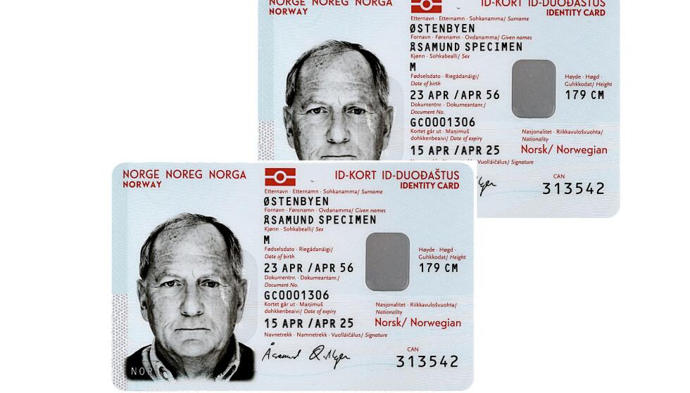 SLIK SER DET UT: Fra oktober kan man få nasjonalt ID-kort. Foto: Politiet