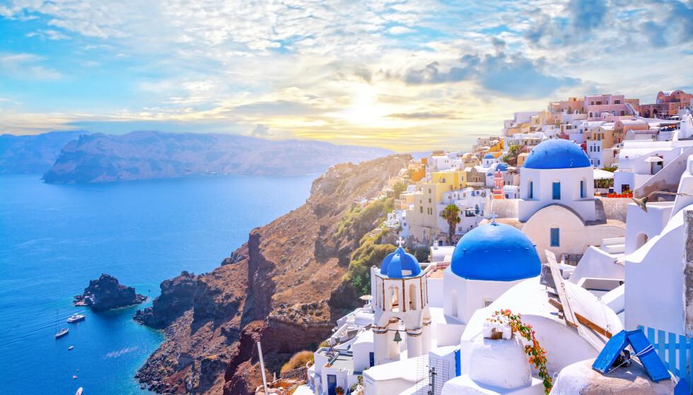 HELLAS I FARE: Hellas er foreløpig gule i FHIs smittekart, men står i fare for å bli røde. 17. august er tallet for Hellas nå på har nå 22,5 smittede per 100.000 innbyggere de to siste ukene. Foto: Shutterstock/NTB scanpix