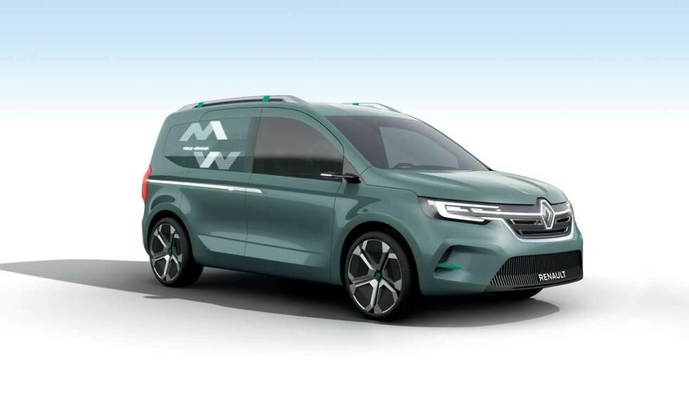 NEPPE LANGT FRA SANNHETEN: Konseptet Kangoo Z.E. har likhetstrekk med skissene fra Mercedes. Renault er én av samarbeidspartnerne til Mercedes i T-prosjektet. Illustrasjon: Renault