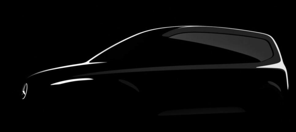BARE SKISSER FORELØPIG: Du må vente i to år dersom du ønsker nye Mercedes T-klasse. Illustrasjon: Mercedes-Benz