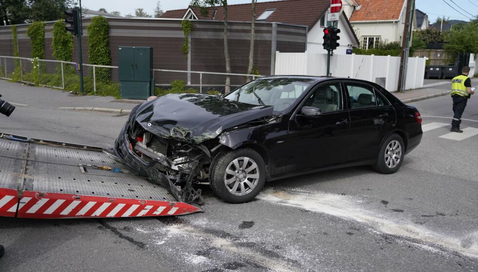 FLERE SKADEMELDINGER: Forsikringsselskapet Gjensidige melder om langt flere skademeldinger i sommer enn tidligere år. Her fra en kollisjon i Oslo i 2019. Illustrasjonsfoto: NTB Scanpix